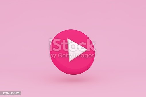 Pink play icon