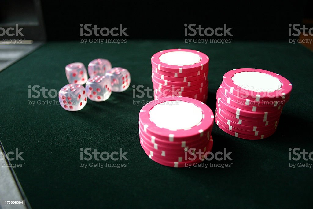 Pink Poker royalty-free stock photo