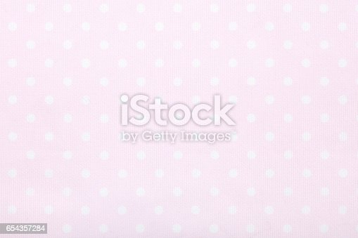 Pink polka dot fabric texture background, high detailed