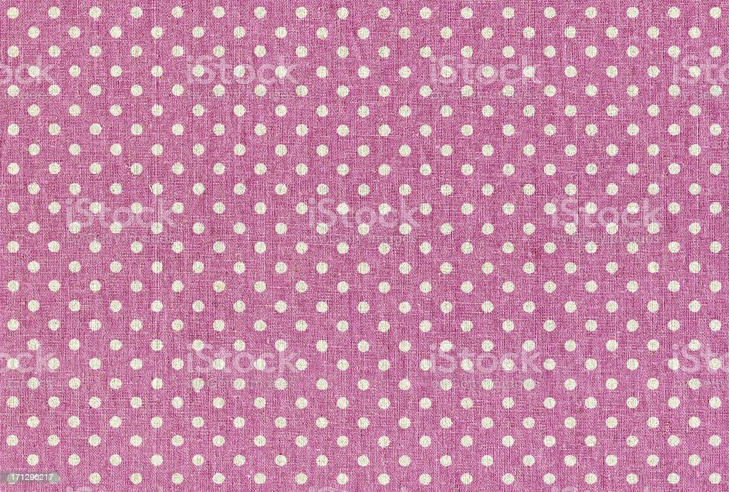 Pink Polka dots fabric texture stock photo