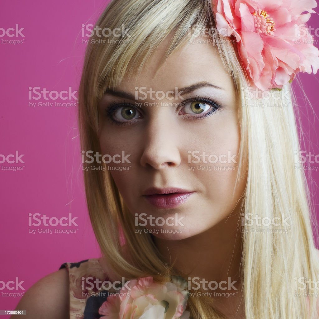 Pink portrait royalty-free stock photo