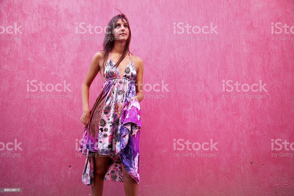 Pink portrait royalty free stockfoto