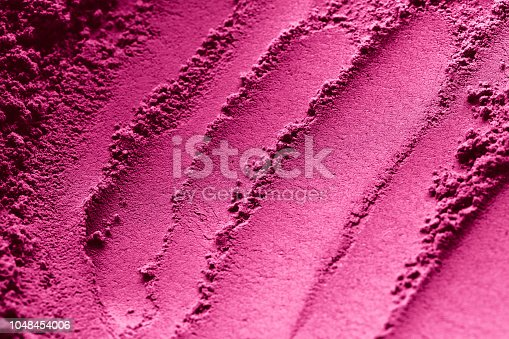 istock Pink powder beauty makeup compound texture pattern for background. 1048454006