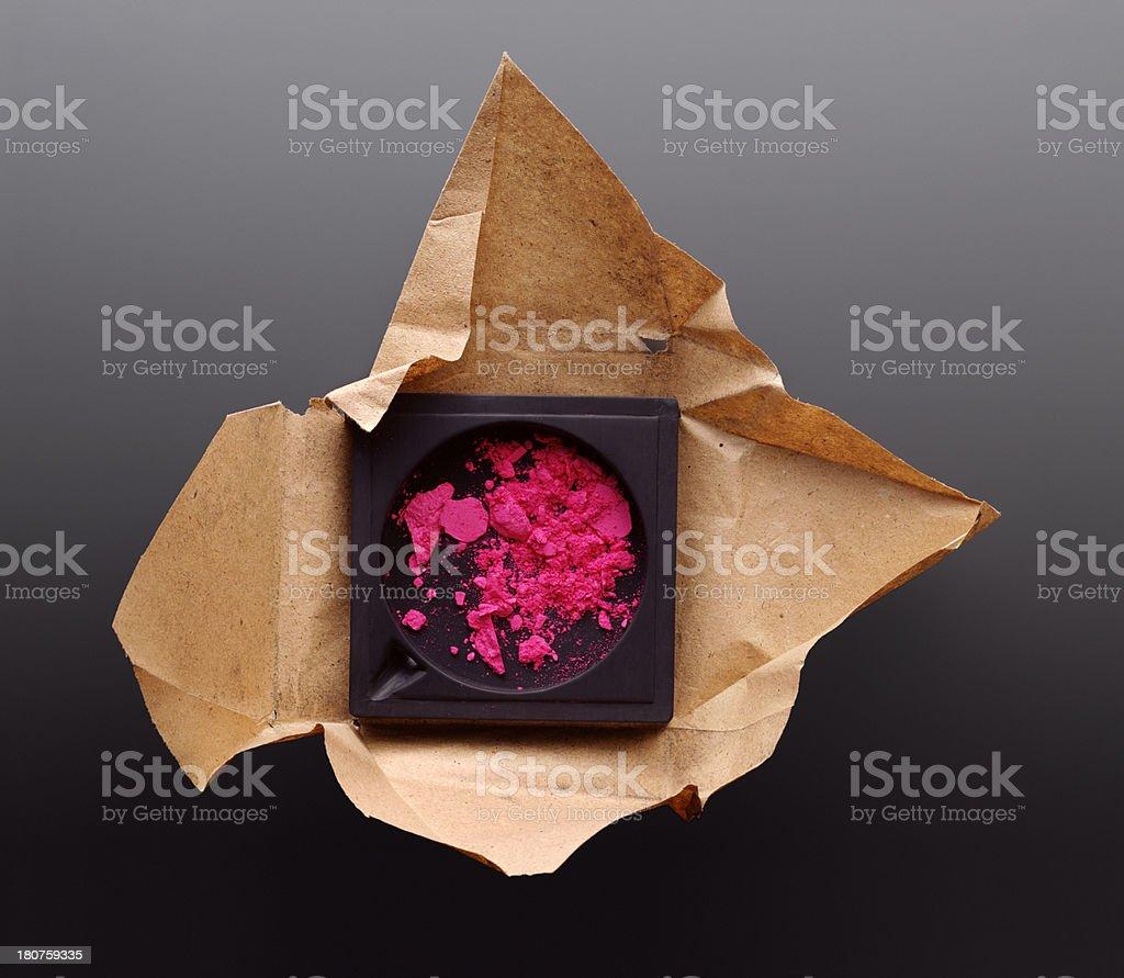 Pink powder royalty-free stock photo