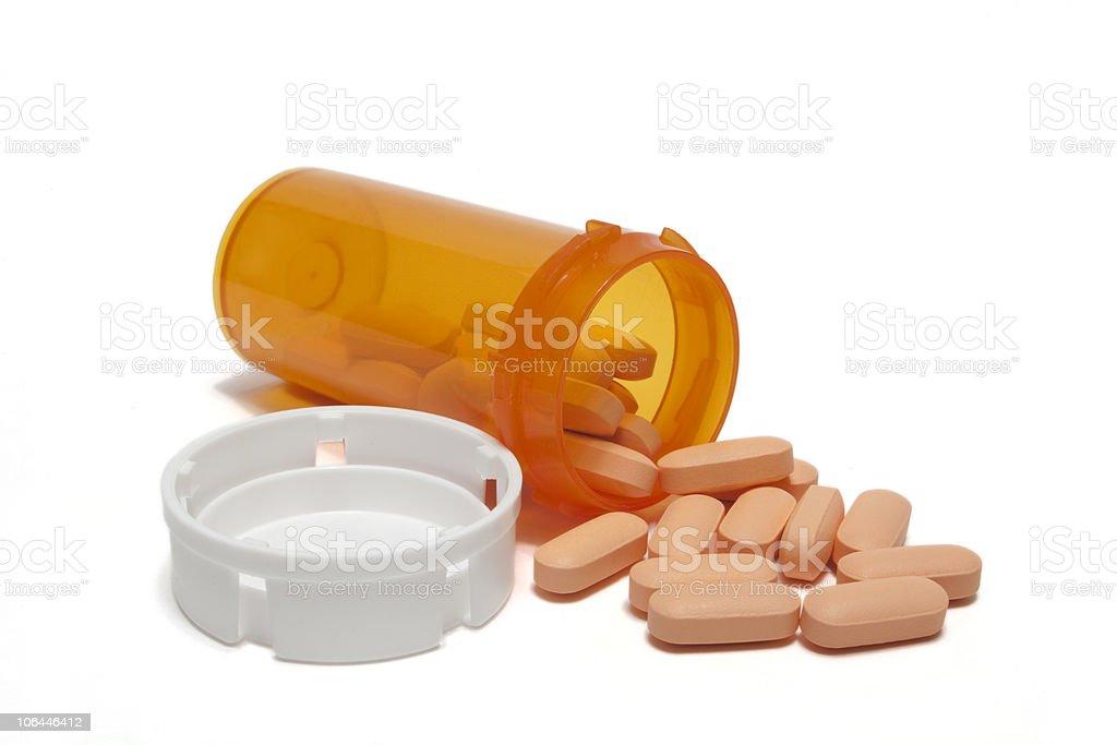 Pink Prescription pills stock photo