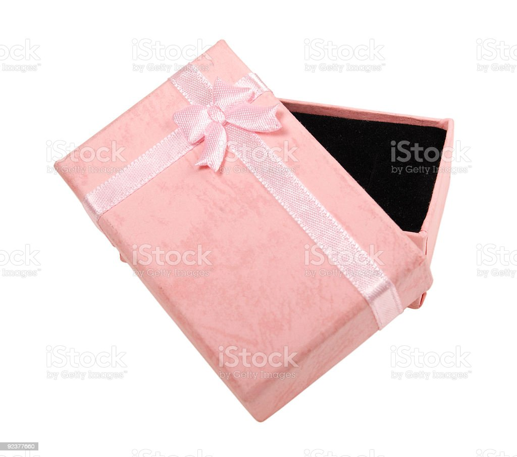 Pink Present - clipping path royalty-free stock photo