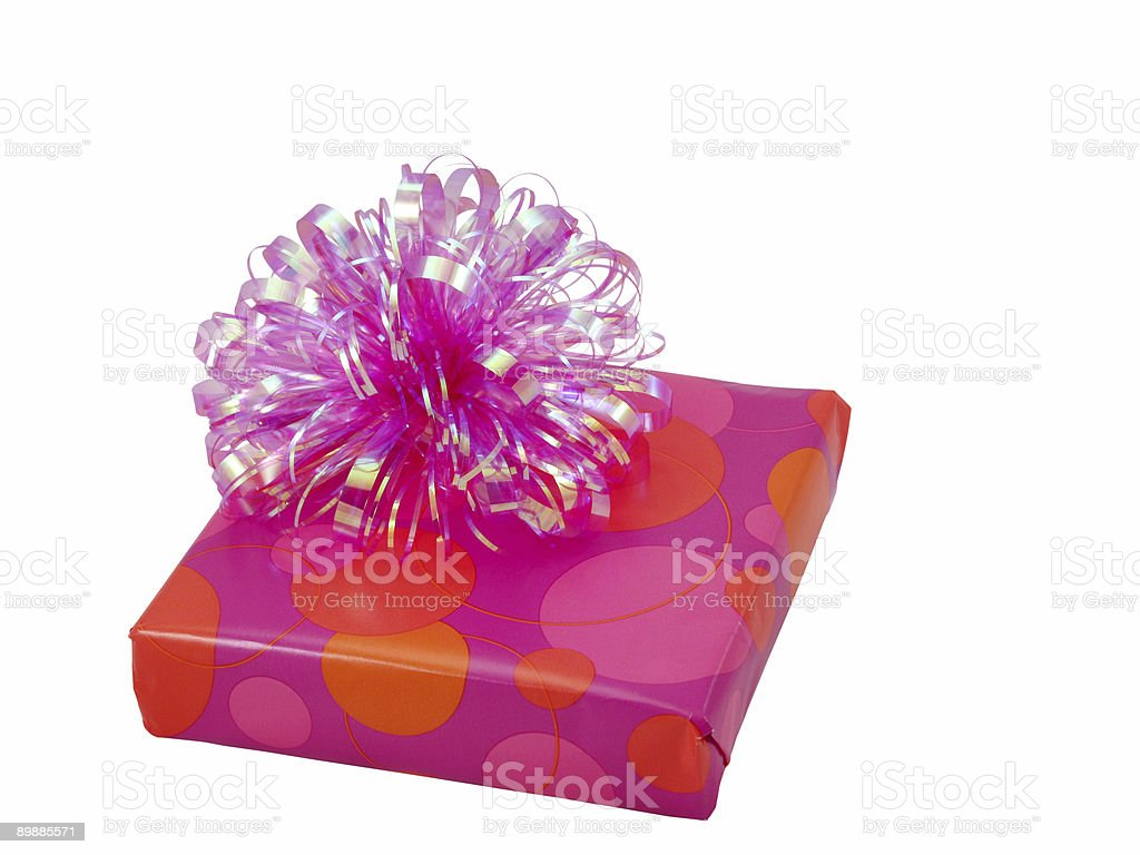 Pink present royalty-free stock photo