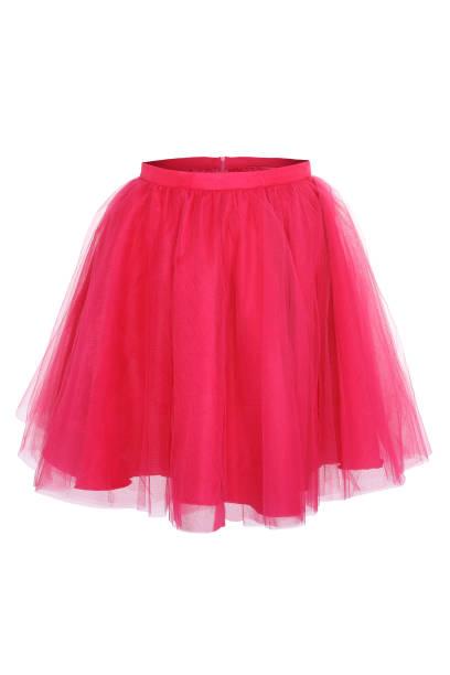 rosa prinzessin rock auf weißem hintergrund - tüllkleid stock-fotos und bilder