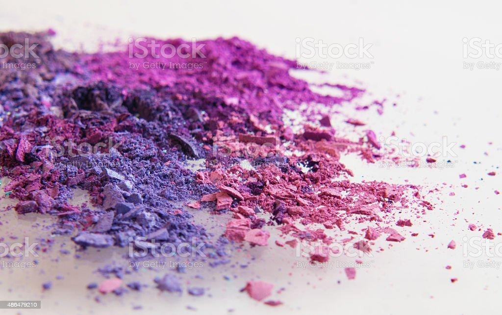 pink purple fuscia eyeshadow powder crumbles royalty-free stock photo