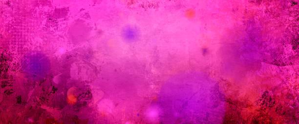 rosa lila Mixed-Media-banner – Foto