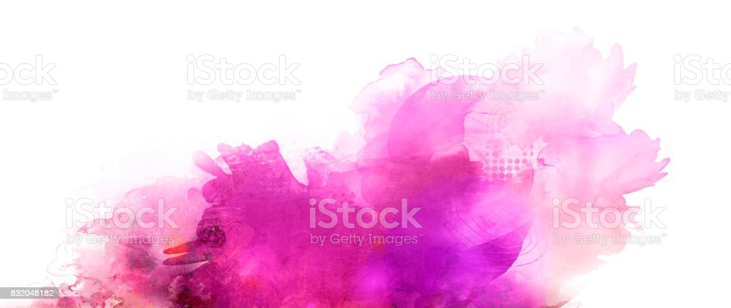 pink purple mixed media banner stock photo