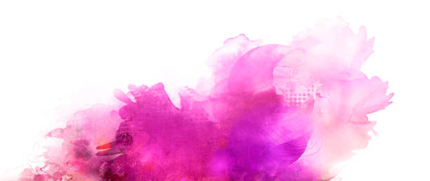 pink purple mixed media banner - foto stock