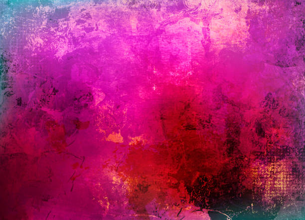 rosa lila Mixed Media collage – Foto
