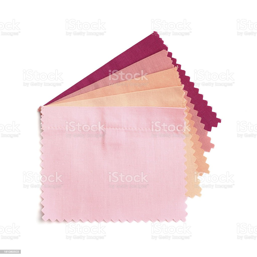 Pink Purple Stitched Fabric Swatches royalty-free stock photo
