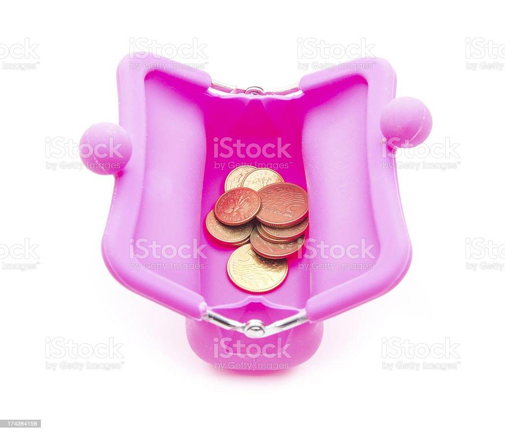 pink purse royalty-free stock photo