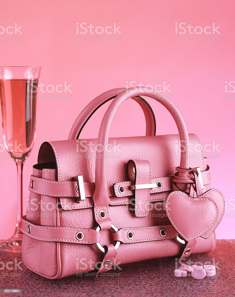 Pink Purse Valentine Theme royalty-free stock photo