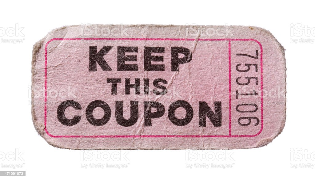 pink raffle ticket keep this coupon stock photo more pictures of