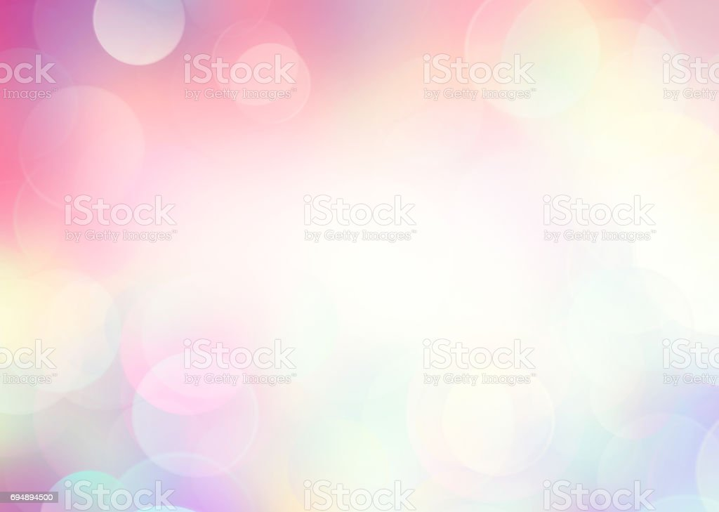 Pink rainbow blurred background. stock photo