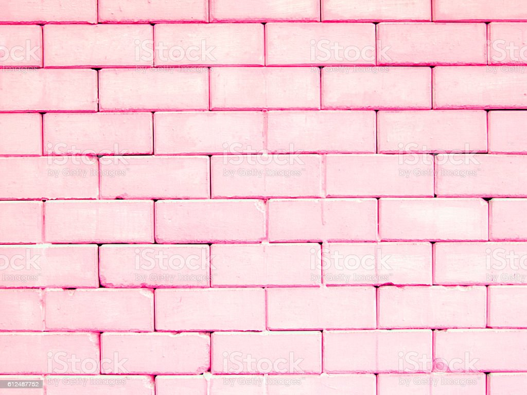 pink rectangle brick wall colorful and pastel background stock photo more pictures of backdrop. Black Bedroom Furniture Sets. Home Design Ideas