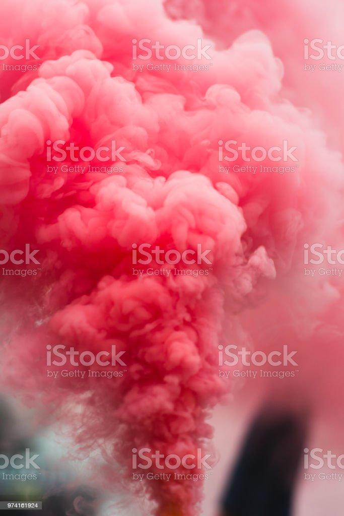 Humo rojo rosa - foto de stock