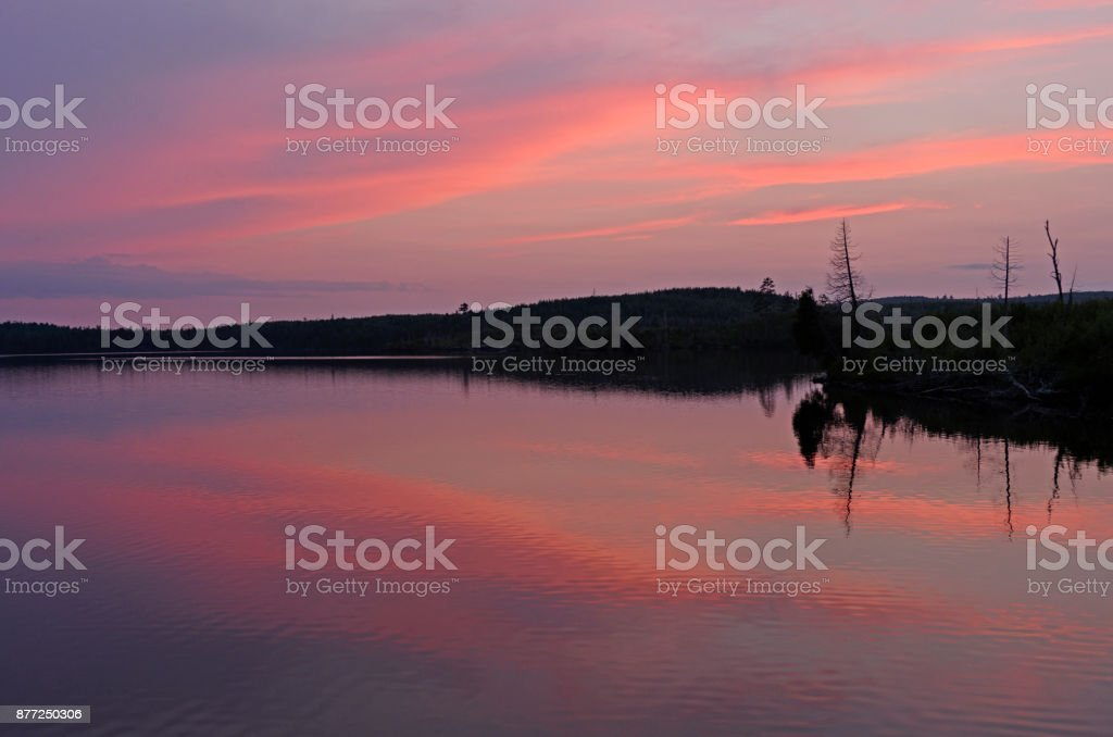 Pink Reflections at Twilight stock photo