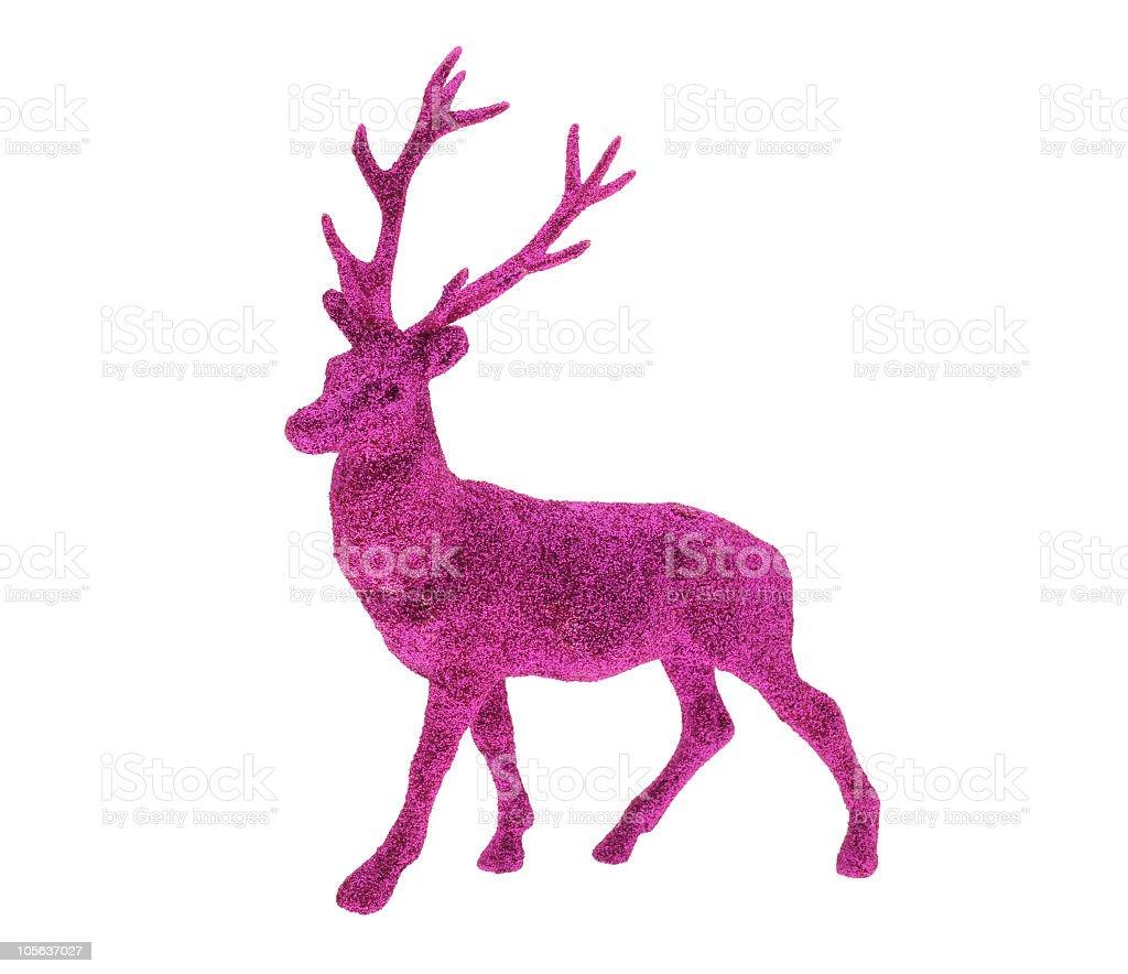 Pink Reindeer stock photo
