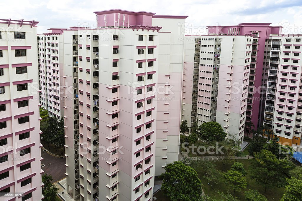 Pink residential estate royalty-free stock photo