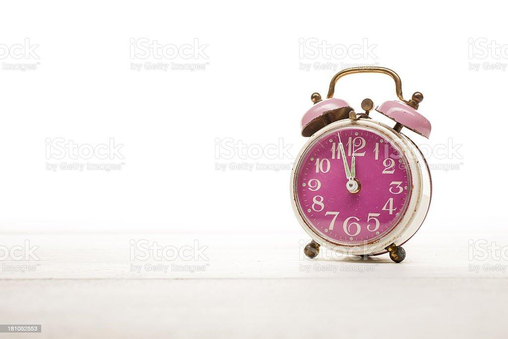 1ee58236b35a00 Pink Retro Alarm Clock Stock Photo   More Pictures of Alarm Clock ...