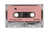 istock Pink retro audio cassette tape 803763816