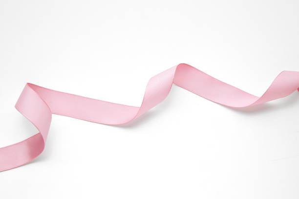 pink ribbon banner stock photo
