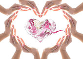 istock Pink ribbon for breast cancer awareness campaign: Elements of this image furnished by NASA 1171825954