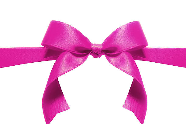 Pink ribbon stock photo
