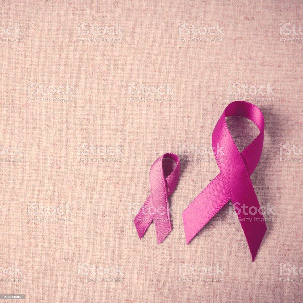 Rosa Schleifen, Breast Cancer Awareness und Unterleibskrebs Bewusstsein, rosa Oktober Tag Hintergrund – Foto