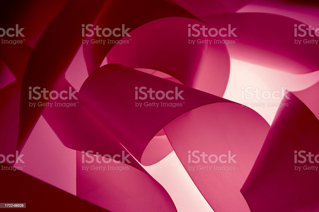 Pink ribbons float in air royalty-free stock photo