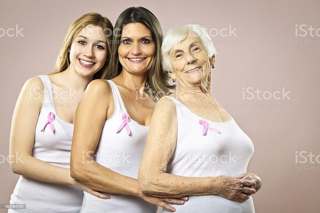 Pink ribbons royalty-free stock photo