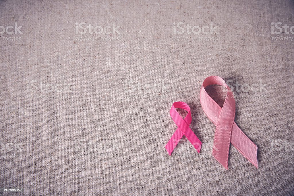 Pink Ribbons toning background, Breast cancer awareness and Abdo – Foto