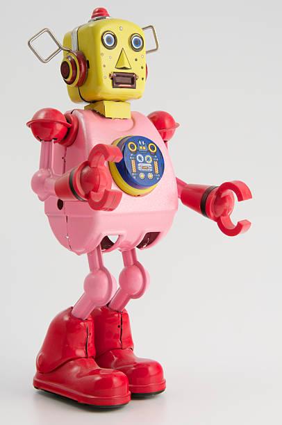 Rosa robot (vista posteriore - foto stock