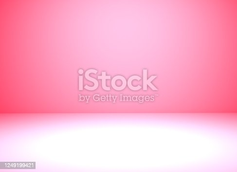 Pink room in the 3d. Pink background, 3d render