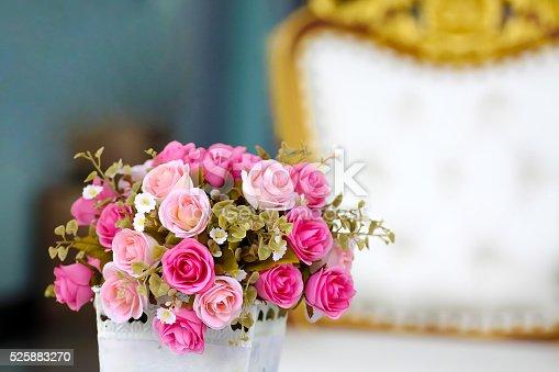 istock pink rose bouquet in luxury living room 525883270