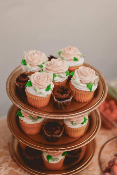 Rosa Rose-Muffins – Foto