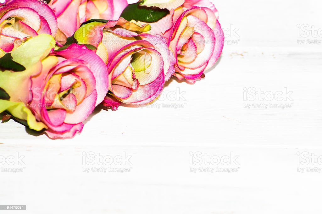 Pink roses flowers on a white wooden background flowers backgrounds pink roses flowers on a white wooden background flowers backgrounds royalty free stock mightylinksfo