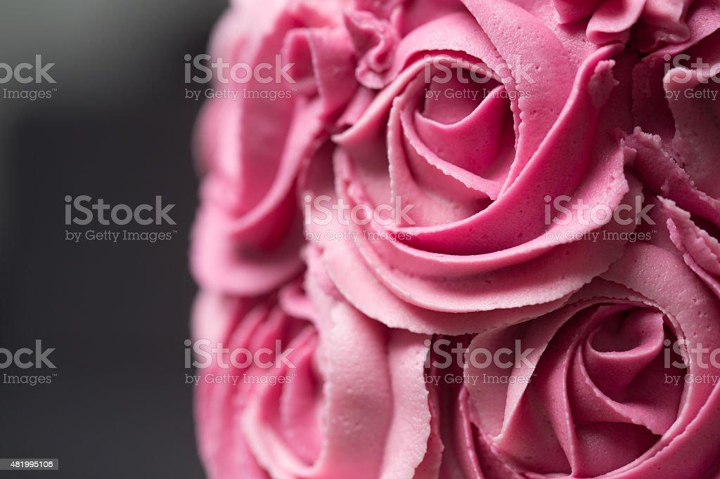 Pink rosette cake stock photo