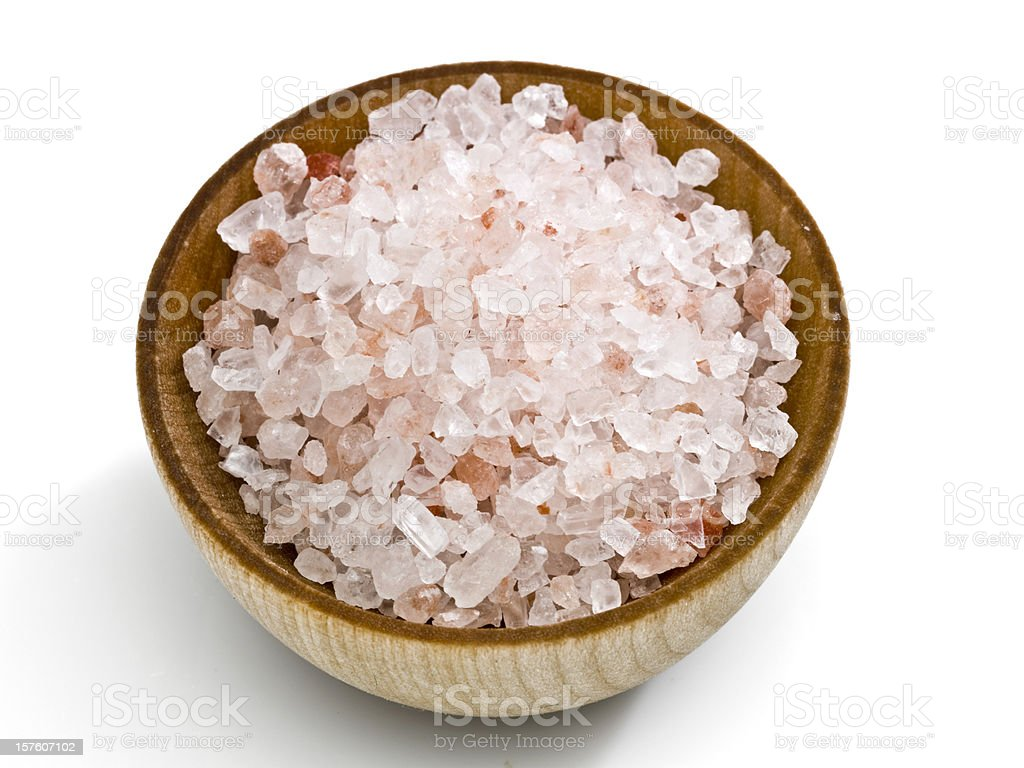 Pink salt from the Himalayas royalty-free stock photo