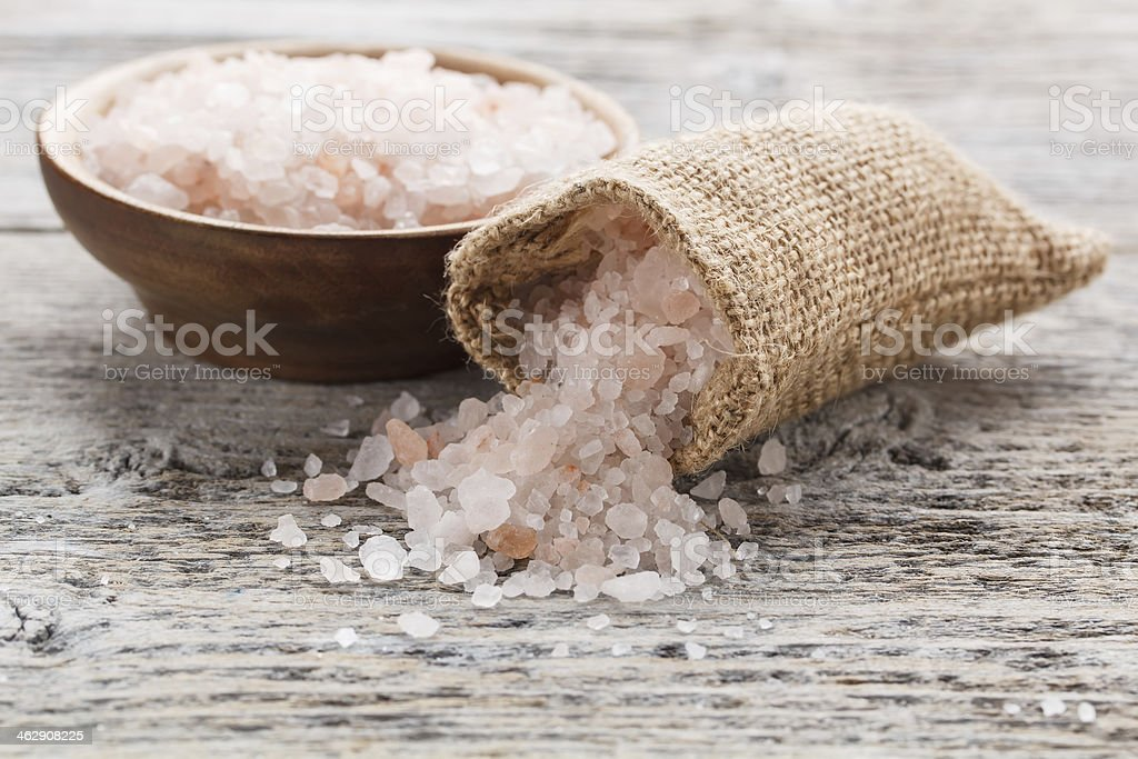 Pink salt stock photo