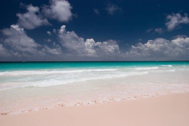 Pink Sands Beach at Harbour Island Bahamas stock photo