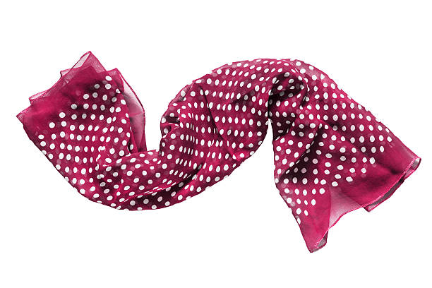 Pink scarf isolated stock photo