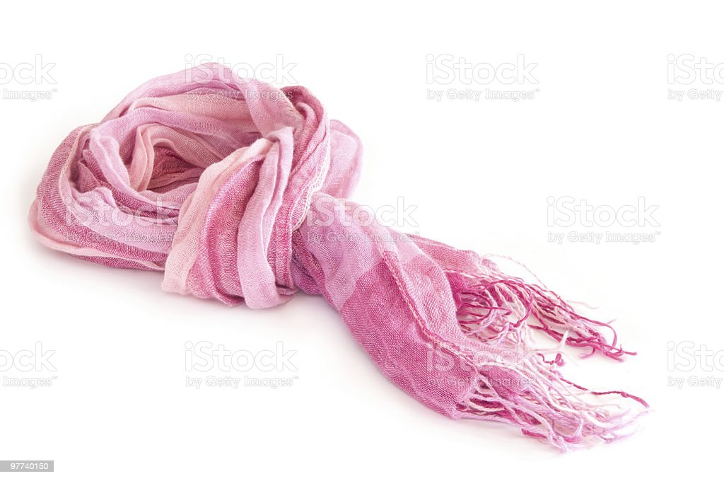 Pink scarf stock photo