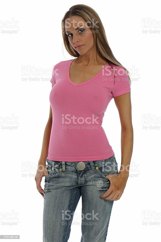 t-shirt sexy rose - Photo