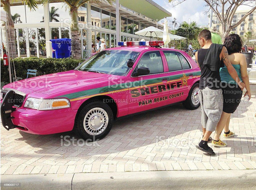 Pink Sheriff's vehicle royalty-free stock photo
