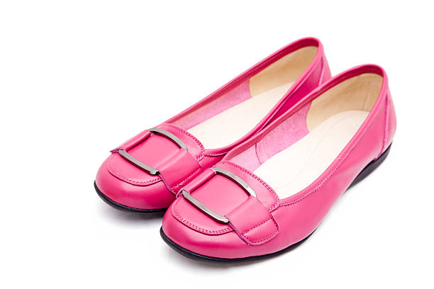 pink shoes - flat shoe stock photos and pictures